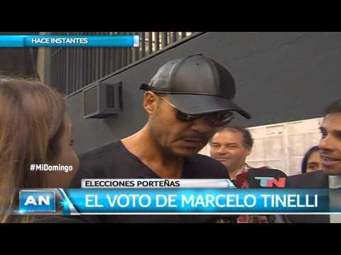 Tinelli votó acompañado por su hijo Lorenzo