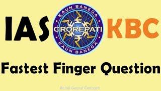 IAS question in crorepati game show || General Knowledge || Balaji Gopsel Concepts