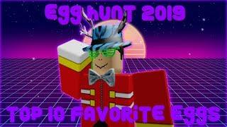 Meu top 10 ovos favoritos em ROBLOX Egg Hunt 2019