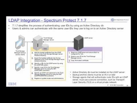 IBM Spectrum Protect 7.1.7 LDAP Integration - Demo