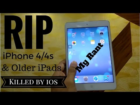 apple ipad mini 1 ios 9 | Did apple kill the iphone 4/4s & older ipads?