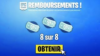 "How to DO ""8 TICKETS"" OF FREE REMBOURSEMENT on Fortnite!!"