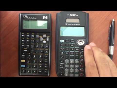 HP 35s vs TI 36X Pro Feature Comparison