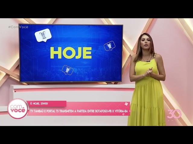 TV Tambaú e Portal T5 transmitem a partida entre Botafogo PB x Vitória BA-  Com Você
