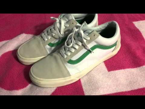 Vans Old Skool White Green