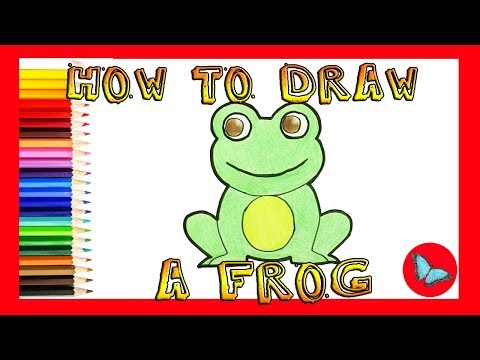 How To Draw A Frog Coloring and Drawing For Kids - YouTube