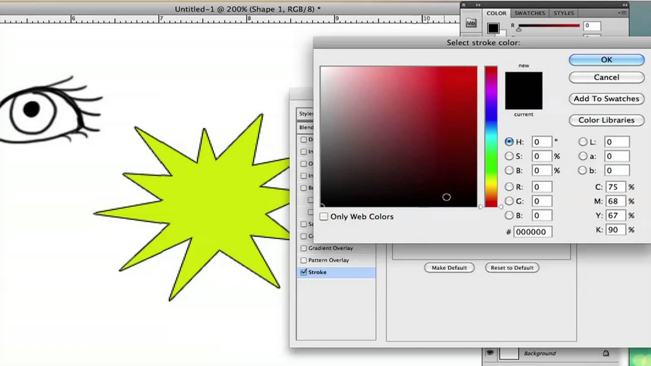 how to change outline color in photoshop using adobe photoshop