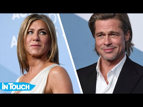 Courtney and KISS in the Morning - Brad Pitt & Jennifer Aniston Reconnect Back Stage & Share A Sweet Moment