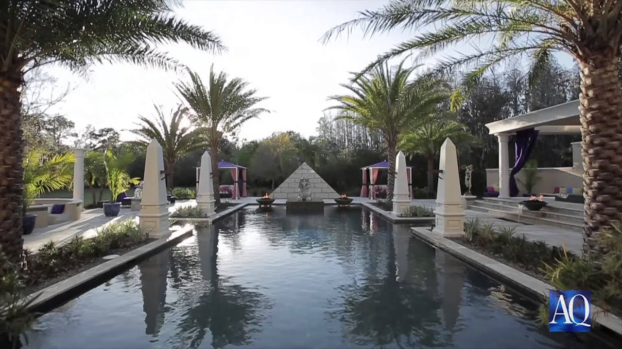 Egyptian Inspired Swimming Pool Spa By Ryan Hughes Youtube