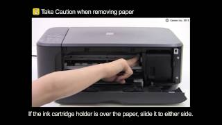 PIXMA MG3520: Removing a jammed paper: inside the printer