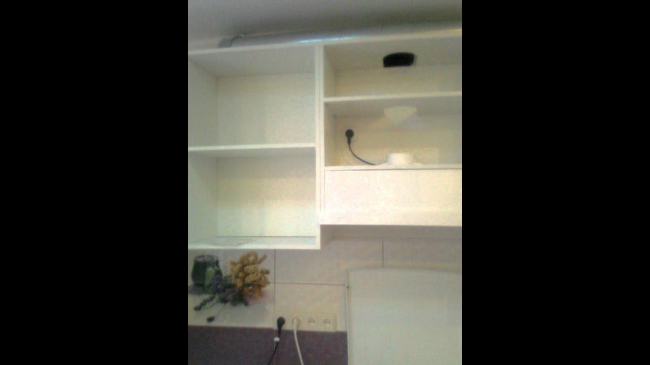 Как работает выдвижная секция напольного углового шкафа для кухни .