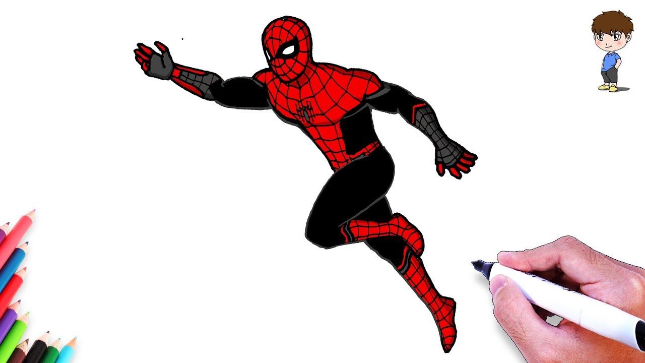 Comment Dessiner Spiderman Dessin De Spiderman Far From Home