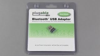 Plugable USB Bluetooth 4.0 Low Energy Micro Adapter Unboxing and Setup