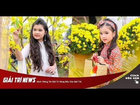 Chị em hoa hậu nhí Trang Anh – Bảo Anh diện áo dài đón Tết