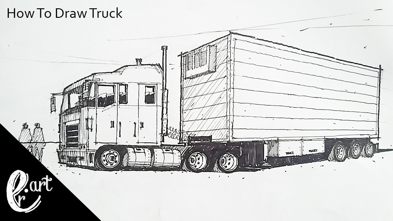 Uncategorized How Do You Draw A Truck how to draw truck youtube truck