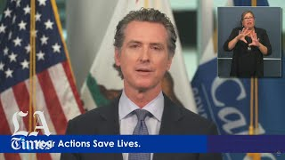 Gov. Gavin Newsom responds to protests over the death of George Floyd
