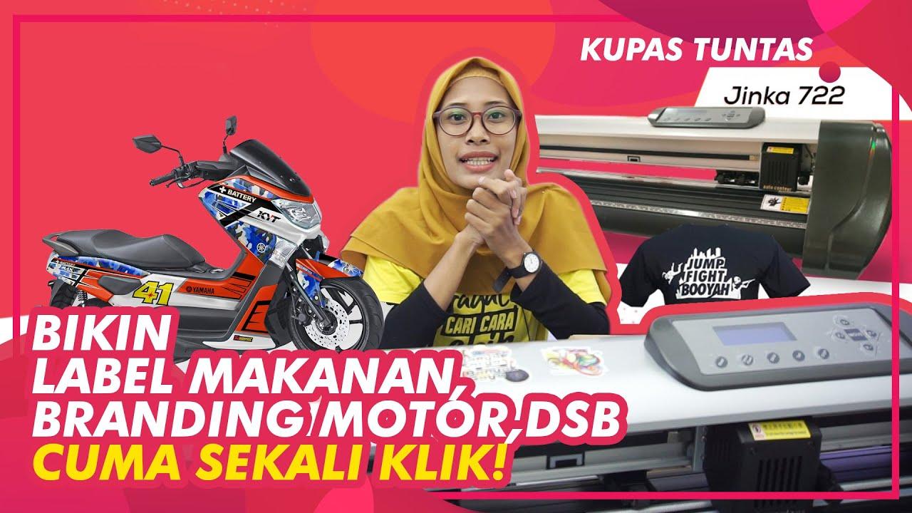 Review Mesin Usaha Cutting Sticker Terbaru Jinka Pro 722 Auto Contour, Cocok Bikin Label Usaha Anda.