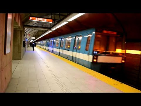 MONTREAL STM METRO TRAINS IN ACTION