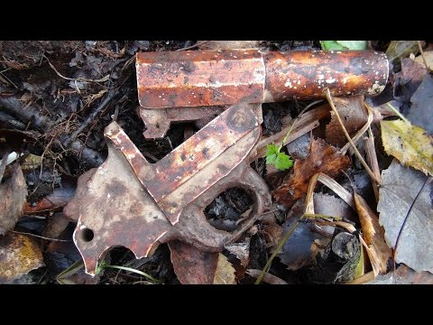 Находки у Упавшего немецкого самолета Раскопки Второй мировой