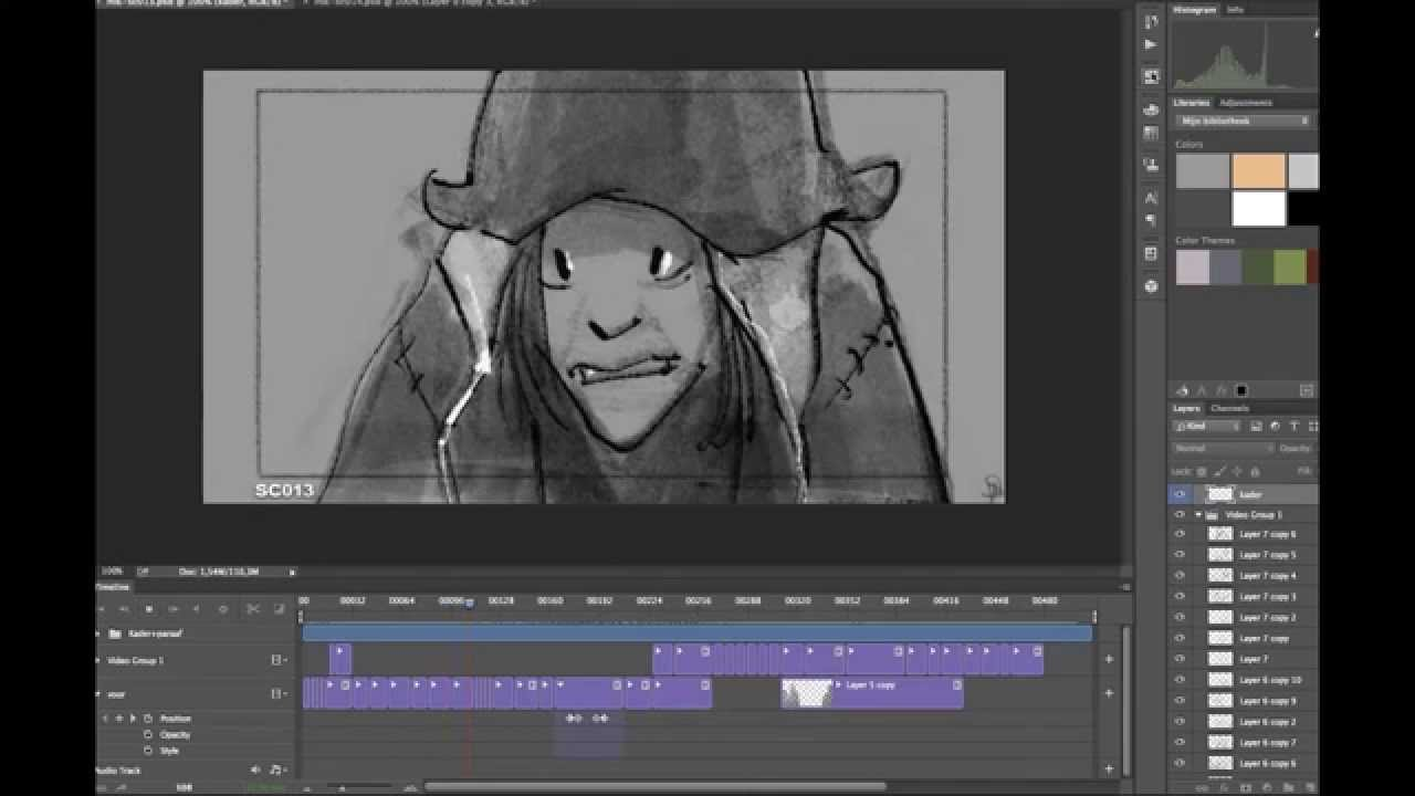 Storyboarding in Photoshop / animatic / story reel (tutorial)