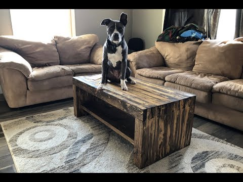 DIY SUPER STRONG RUSTIC COFFEE TABLE UNDER $50