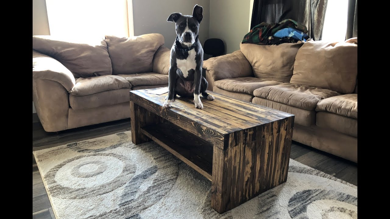 DIY SUPER STRONG RUSTIC COFFEE TABLE FOR UNDER YouTube - Coffee table less than $50