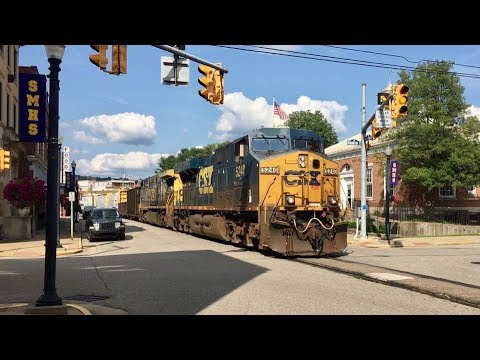 Longest Street Running Freight Train Ever!  Two Miles Long CSX In The Roadway!