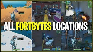 *NEW* Fortnite: ALL Fortbyte Locations! (Current & Leaked Ones)