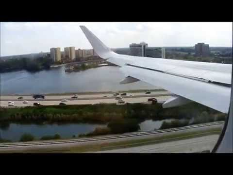 Onboard CROSSWIND Landing at Miami International Airport |  American Airlines Airbus A319