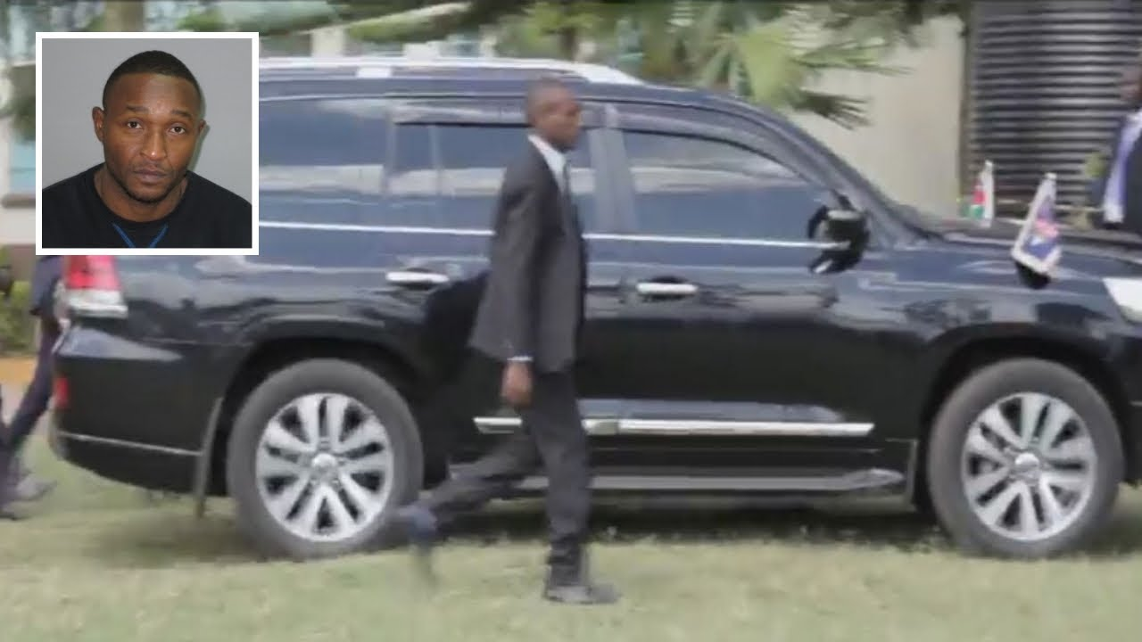 Uhuru Kenyatta motorcade arrives at Kisii High School for the International Youth Day celebrations