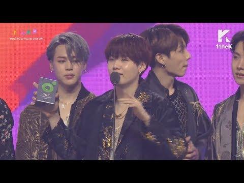 [ENG SUB] BTS - Artist of the Year Acceptance Speech @ Melon Music Awards (MMA 2018)