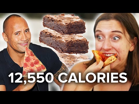 Thumbnail: We Ate The Rock's Cheat-Day Meals