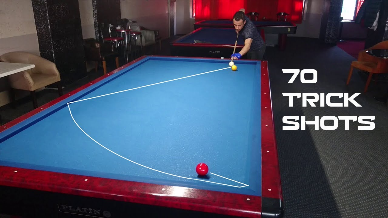 70 Amazing Billiards Trick Shots Ersoy Sarıçamlık Bida 3 Băng Dỉnh Cao