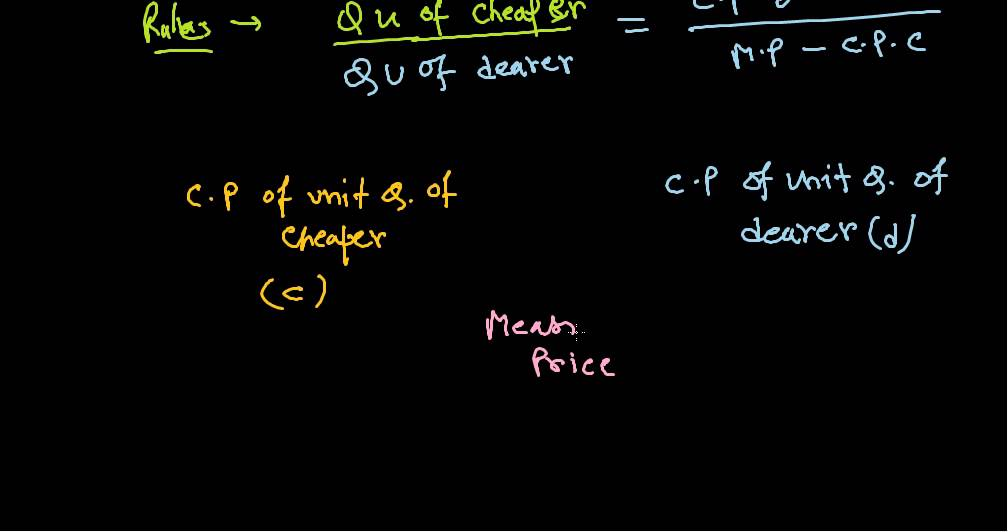Mixture and alligation formula and tips : Aptitude trick for  IBPS,SSC,CAT,XMAT,RAIL,PO,GATE