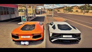 Racha de Lamborghini Aventador LP750-4 SV VS Lamborghini Aventador LP700-4 - Forza Horizon 3 Online
