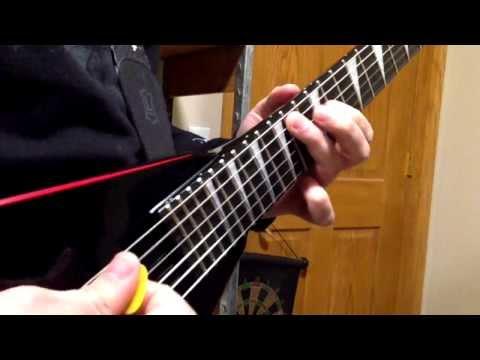 guitar shredding in 100fps slow motion