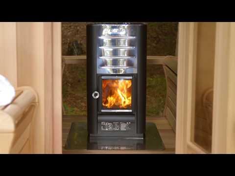 Harvia Heater in Panoramic Sauna Instructions