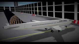 Simulatore di volo Roblox SFS Un timelapse del volo United Airlines A320.
