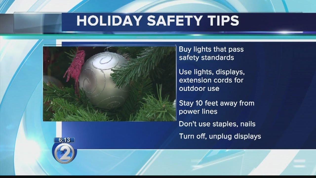 holiday lights safety tips youtube