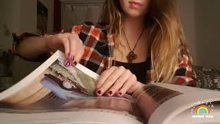 ASMR Hypnotizing glossy book page flipping + page squeezing