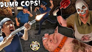 FRAMING MR. MEAT!! CAN'T OUTSMART DUMB POLICE OFFICERS! (FGTeeV Rescue Game #1)
