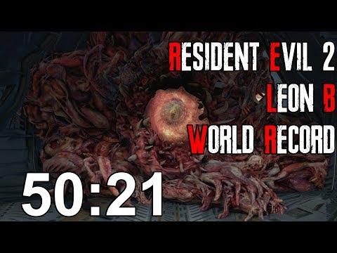 Resident Evil 2 Remake - Leon B Speedrun Former World Record - 50:21