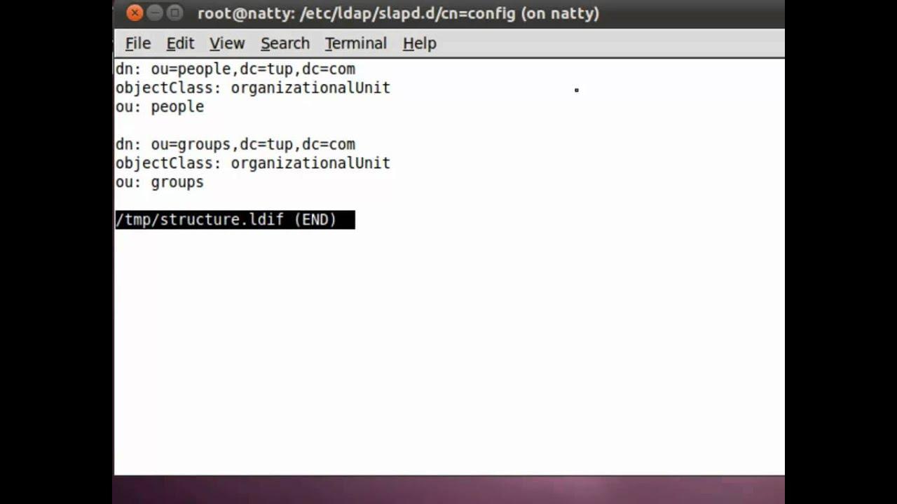 UBUNTU: Installing the openLDAP Server