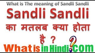 Punjabi song sandali sandali me sandli-sandli ka kya matlab hota hai | Meaning of Sndli sndli