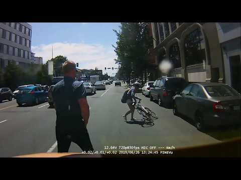 Victoria police find cyclist who was struck by car in dascham video