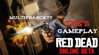 Red Dead Redemption 2  la beta Online Test gameplay Xbox one x.🇫🇷🏜🐴🕵️🎮