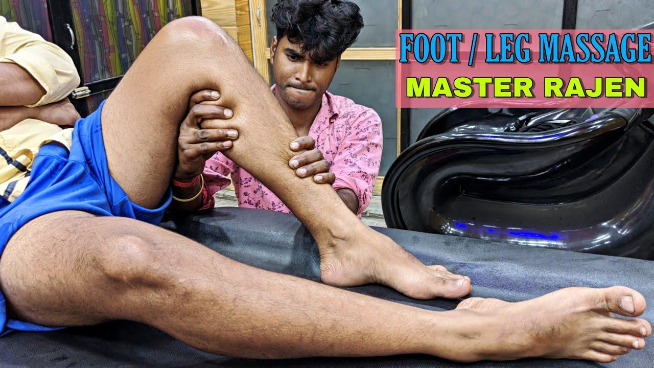 Master Rajen Special massage / Foot & Leg Deep tissue massage   ASMR