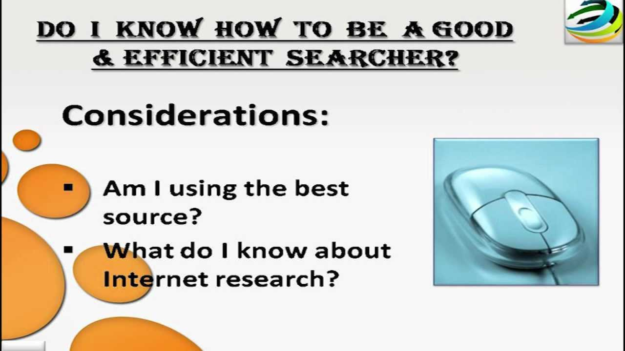 Is the internet an effective tool when researching a topic?