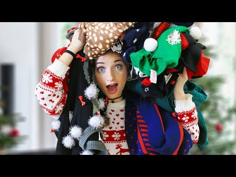 Which Tacky Christmas Sweater Would You Wear?!?   12 Days of Vlogmas {Day 10}
