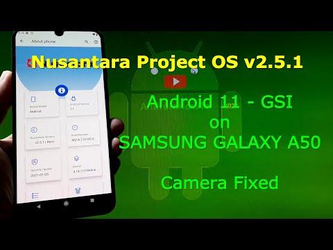 Nusantara Project OS v2.5.1 Android 11 for Samsung Galaxy A50 + Camera Fixed